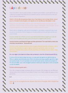 Lápis de cor - Maria Clara
