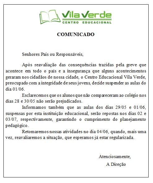 Nota Oficial 30.05.18