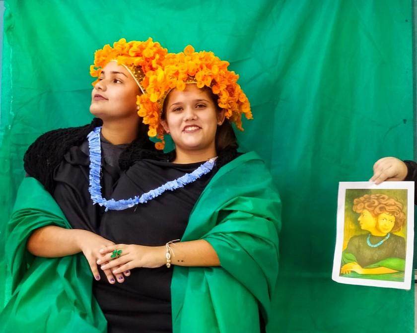 """é a pintura """"La chascona"""" em homenagem a Matilde Urritia, esposa de Pablo Neruda."""